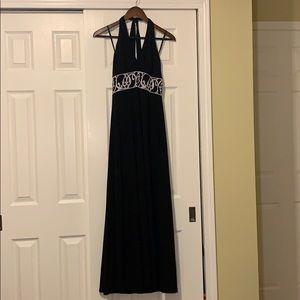 White House Black Market: Black halter top dress